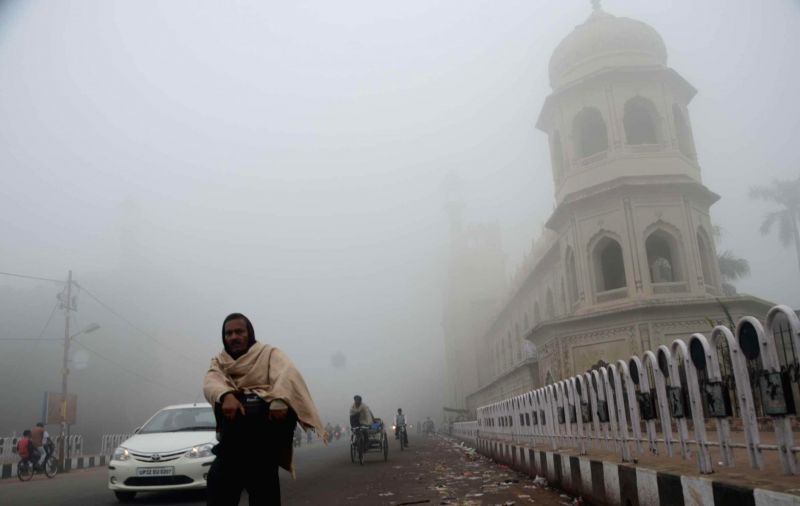 A dense fog cover over Lucknow on Dec 5, 2014.