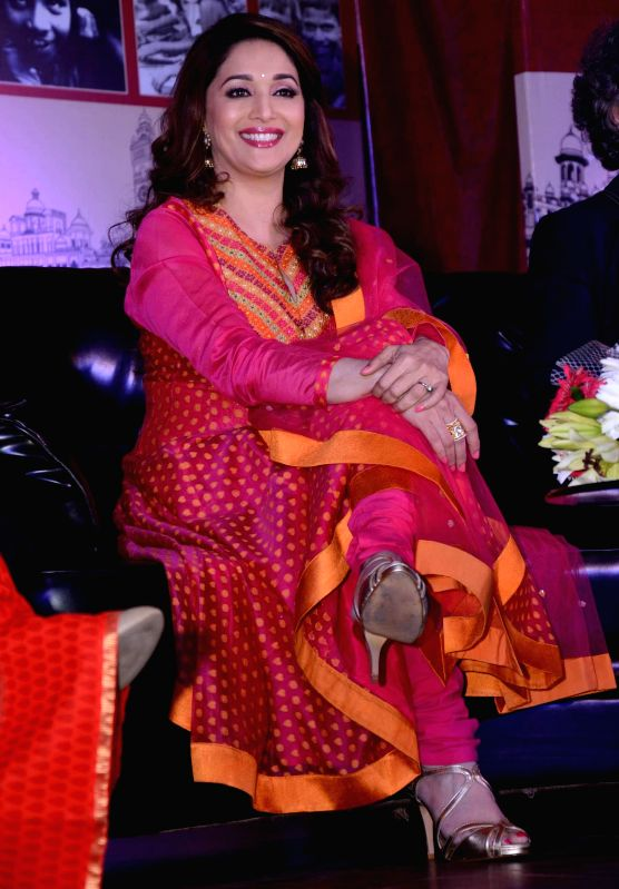 Actress Madhuri Dixit Nene during the inauguration of Lucknow Literature Carnival in Lucknow on Nov. 22, 2014.