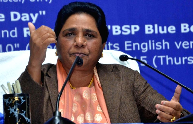BSP supremo Mayawati addresses a press conference on her birthday in Lucknow on on Jan 15, 2015.