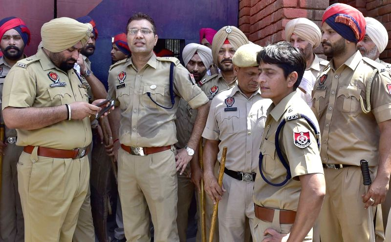 Ludhiana: Security beefed up at the Ludhiana Central Jail where at least 10 inmates sustained injuries in a clash between two groups, on June 27, 2019. The incident in the jail occurred in less than a week after Mohinder Pal Bittu, the prime suspect