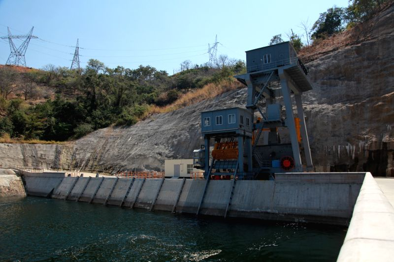Photo taken on Aug. 21, 2014 shows the inlet of the dam of Kariba hydropower station in Zambia. The constructor China's Sinohydro Corporation delivered Thursday the .