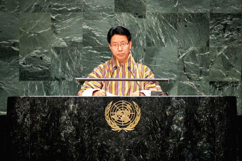 : Lyonpo Damcho Dorji, Minister of Home and Cultural Affairs of Bhutan, speaks during the general debate of the 69th session of the United Nations General ...