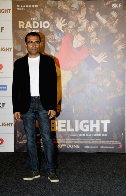 Lyricist Amitabh Bhattacharya during the launch of first song of the film Tubelight, 'The Radio Song' in Mumbai on May 12, 2017.