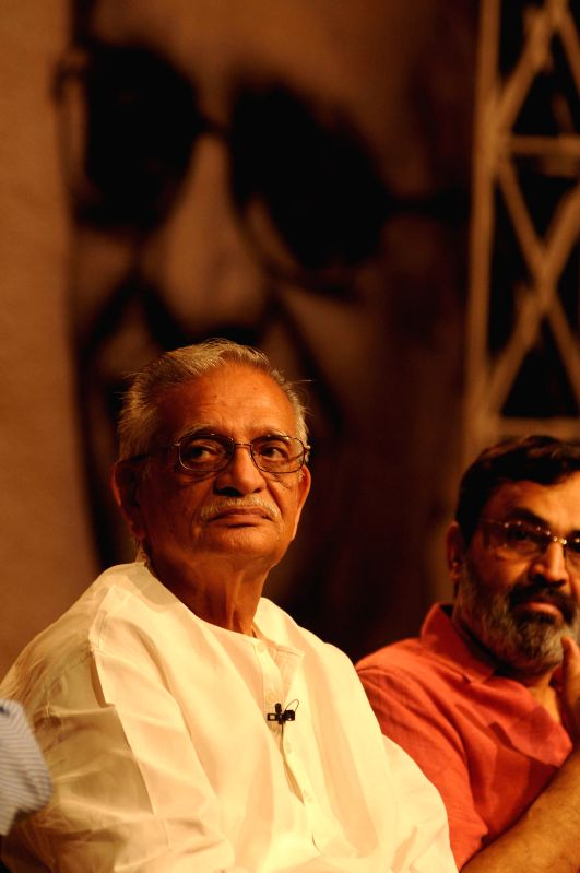 Lyricist Gulzar during the release of DVD series of Munshi Premchand's 'Godan' and 'Nirmala` produced by DD Archives in New Delhi on May 2, 2014.