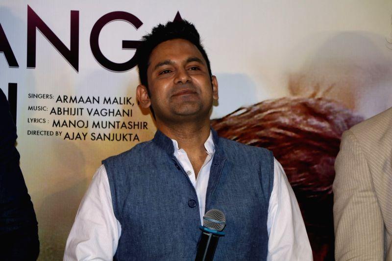 Lyricist Manoj Muntashir during the song launch of Pyaar Manga Hai, in Mumbai on August 3, 2016