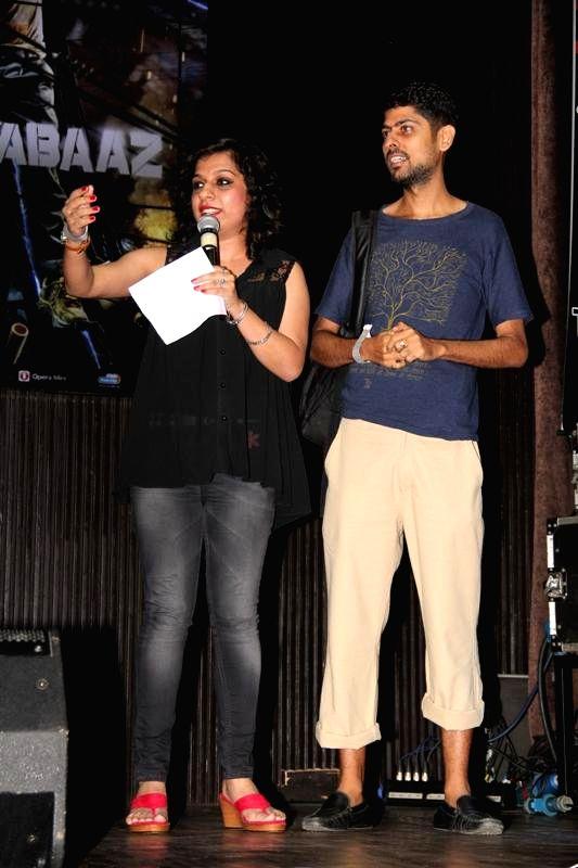 Lyricist Varun Grover during the music launch of film Katiyabaaz in Mumbai on Aug 11, 2014.