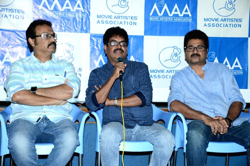 MAA Association Pressmeet About Chalapati Rao Controversy On Women, Hyderabad on May 23, 2017.