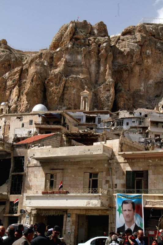 A general view shows the historical predominately Christian town of Maaloula in the countryside of Damascus, Syria on Sunday, April 20, 2014. The rebels-held ...