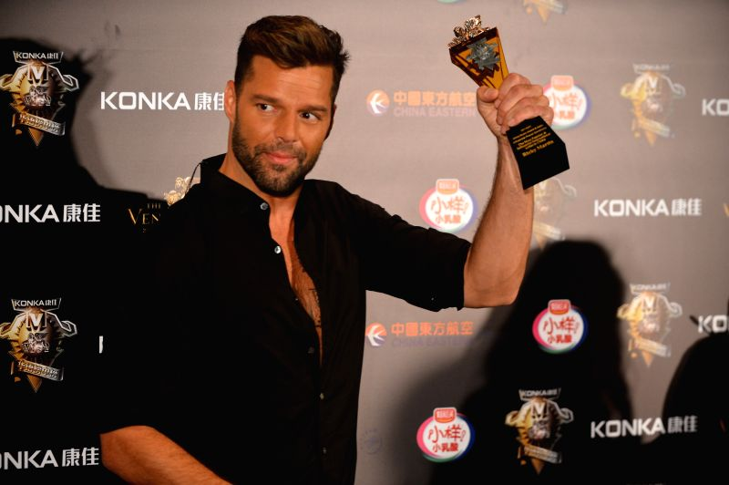 Singer Ricky Martin attends the 18th China Music Awards (CMA) and Asian Influential Awards ceremony in Macao, south China, April 23, 2014.