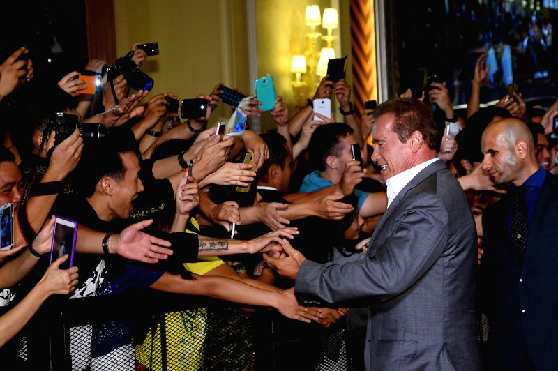 Actor Arnold Schwarzenegger during the movie ``The Expendables 3`` special screenings and red carpet event at the Venetian Macao in Macau August 22. The American ... - Arnold Schwarzenegge