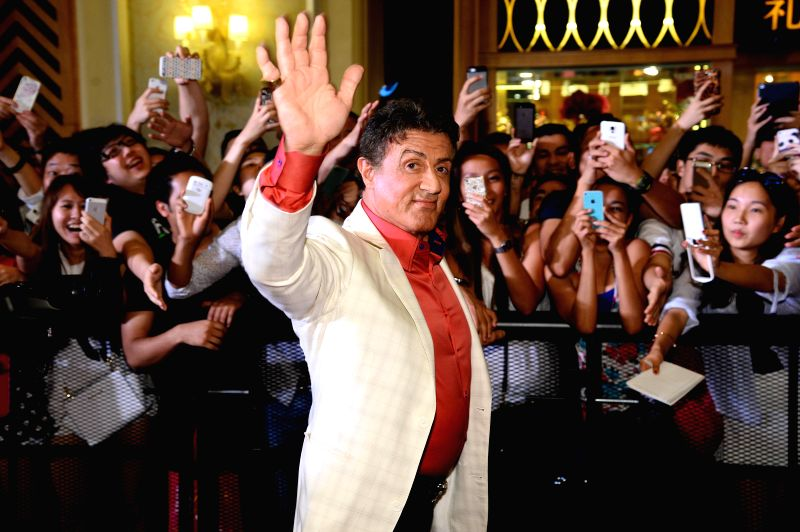 Actor Sylvester Stallone during the movie ``The Expendables 3`` special screenings and red carpet event at the Venetian Macao in Macau August 22. The American action . - Sylvester Stallone