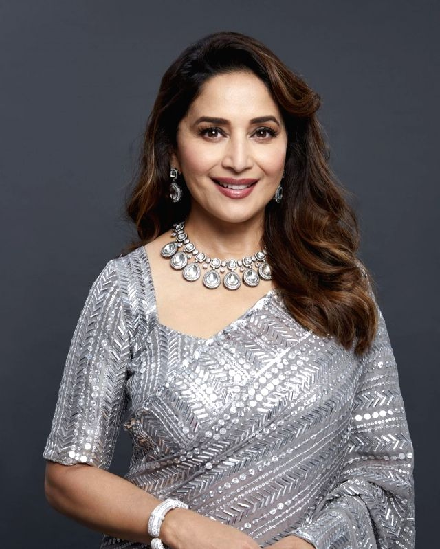 Madhuri Dixit is 'back on set', days after second dose of Covid vax