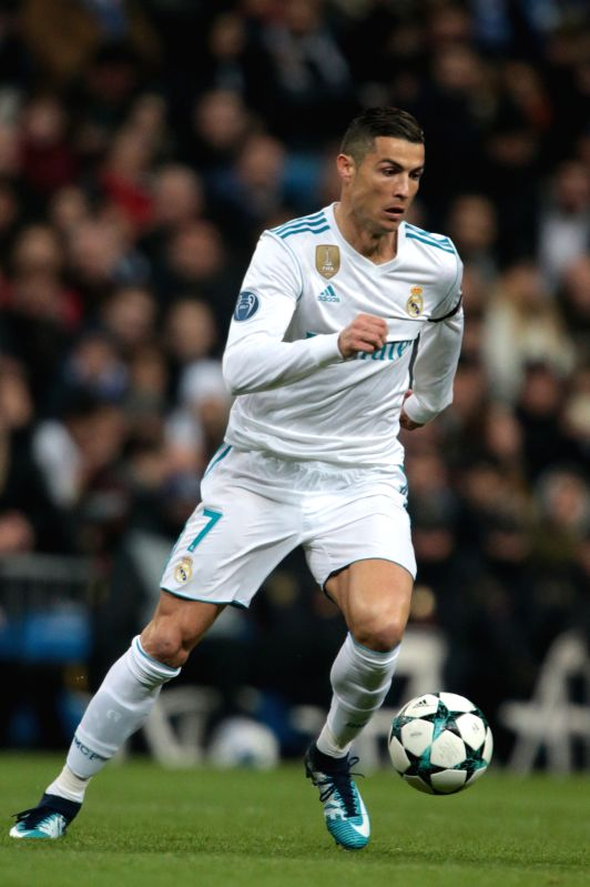 MADRID, Dec. 7, 2017 - Cristiano Ronaldo of Real Madrid competes during the UEFA Champions League group H football match between Real Madrid CF and Borussia Dortmund at the Santiago Bernabeu stadium ...