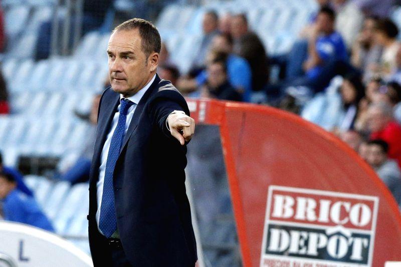 Deportivo Coruna's head coach Victor Fernandez reacts during the Spanish Liga Primera Division soccer match against Getafe played at Coliseum Alfonso Perez stadium, in Getafe, Madrid, Spain, ...