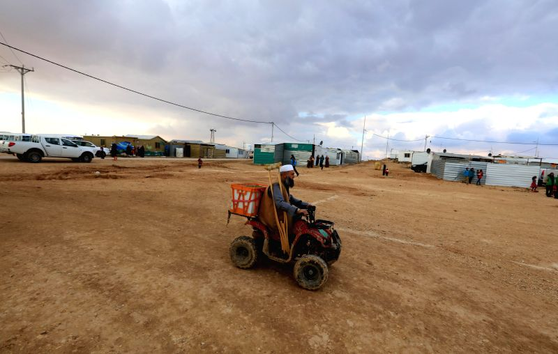 MAFRAQ (JORDAN), Jan. 28, 2018 A Syrian refugee is seen in the Zaatari Refugee Camp near Mafraq, Jordan, on Jan. 28, 2018. The UN Higher Commission for Refugees (UNHCR) special envoy ...