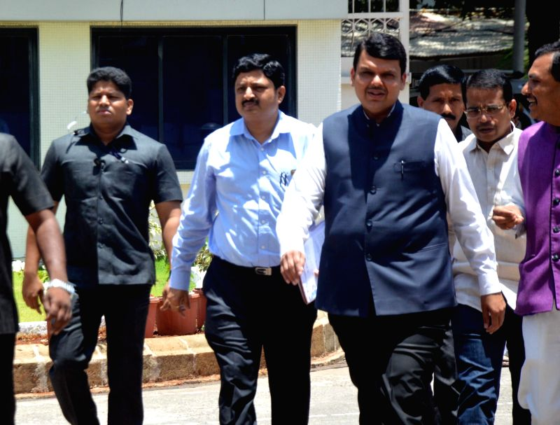 Maharashtra Chief Minister Devendra Fadnavis arrives to attend a special session of the state assembly in Mumbai on May 21, 2017. - Devendra Fadnavis