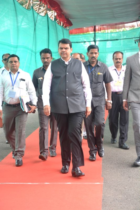Maharashtra Chief Minister Devendra Fadnavis arrives at state assembly, in Nagpur, on July 13, 2018. - Devendra Fadnavis