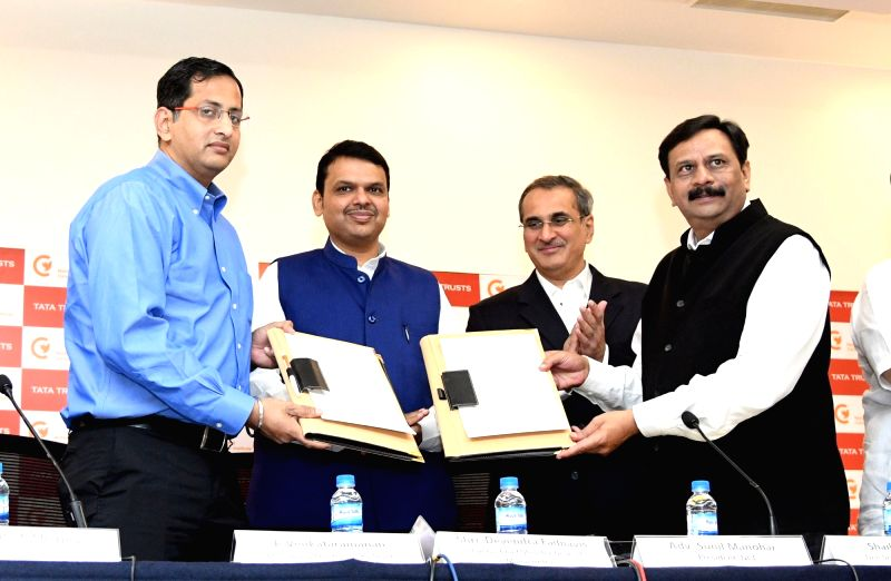 Maharashtra Chief Minister Devendra Fadnavis at the MoU signing ceremony between National Cancer Institute (NCI) and Tata Trusts, in Nagpur on July 14, 2018. - Devendra Fadnavis
