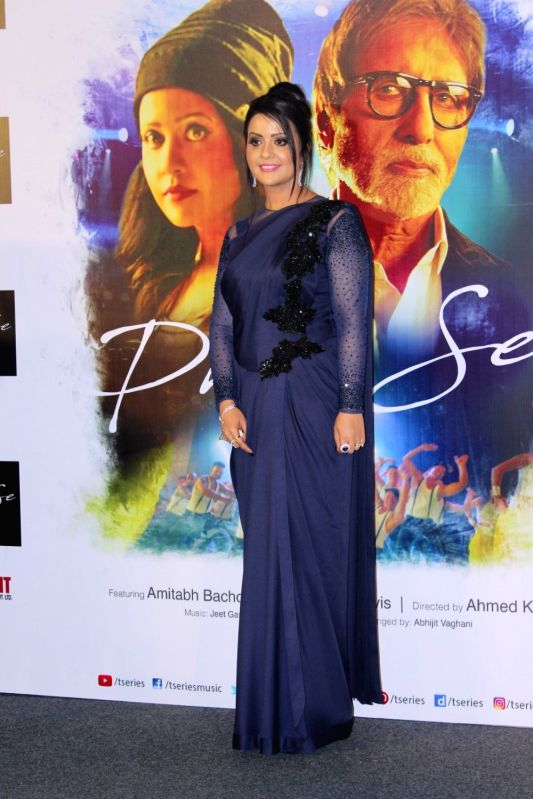 Maharashtra Chief Minister Devendra Fadnavis's wife Amruta Fadnavis during the song launch Phir Se in Mumbai, on May 30, 2017. - Devendra Fadnavi
