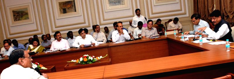 Maharashtra Chief Minister Prithviraj Chavan during 'Mantralay Lokshai Din' in Mumbai on May 5, 2014.