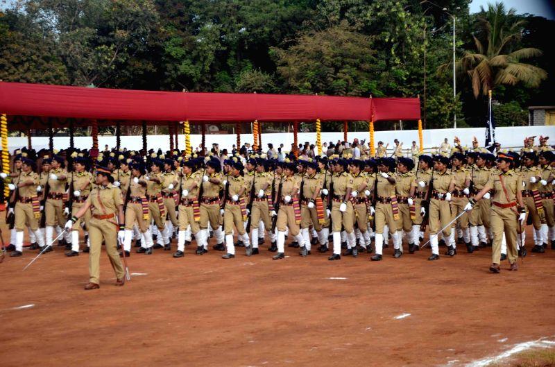 Maharashtra Day celebrations underway at Shivaji Park in Mumbai on May 1, 2017.
