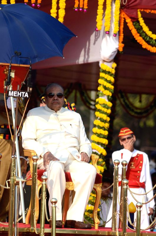 Maharashtra Governor K Sankaranarayanan during Maharshtra Day celebrations at Shivaji Park in Mumbai on May 1, 2014.