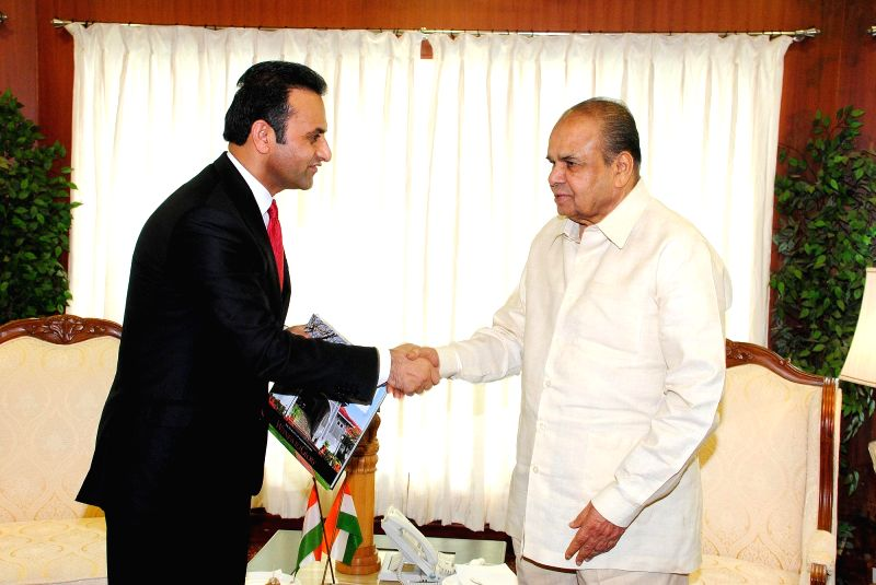 Maharashtra Governor K Sankaranarayanan with Ambassador Extraordinary and Plenipotentiary of the Islamic Republic of Afghanistan to India Shaida Mohammad Abdali during a meeting at Raj Bhavan in ...