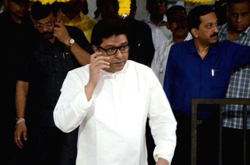 Maharashtra Navnirman Sena (MNS) President Raj Thackeray during his birthday celebrations at his residence in Dadar, Mumbai on June 14, 2018.