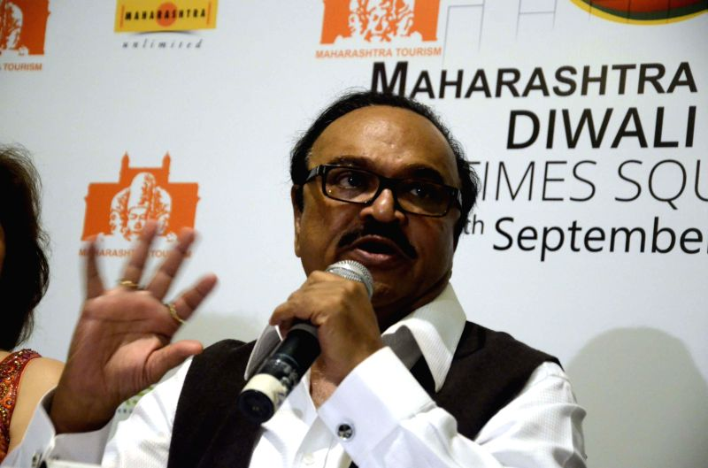 Maharashtra Tourism Minister Chhagan Bhujbal during a press conference in Mumbai on June 19, 2014.