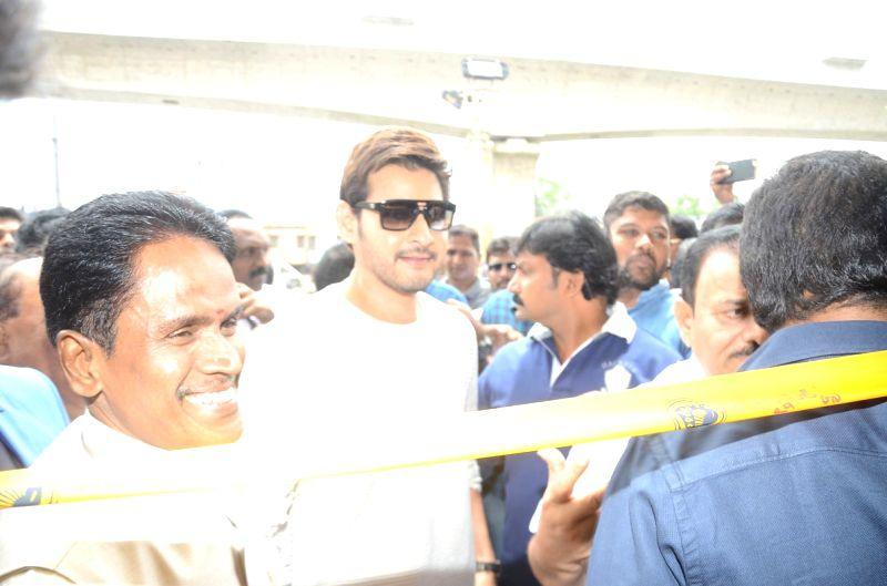 Mahesh Babu during a inauguration.