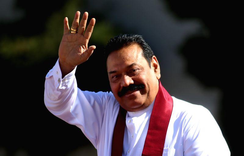 Mahinda Rajapaksa. (File Photo: Xinhua/Fadi Arouri)(lrz)