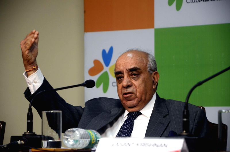 Mahindra Holidays Chairman Arun Nanda addresses during a programme at Mahindra Towers in Mumbai on July 7, 2014.