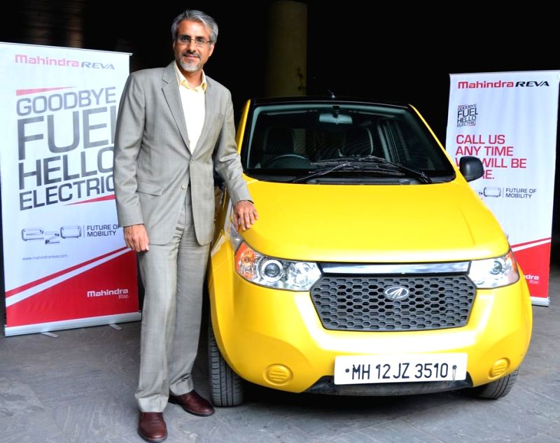 Mahindra Reva Electric Vehicles Pvt Ltd. Chief Executive Officer Chetan Maini during launches a new car in Pune on April 22, 2014.