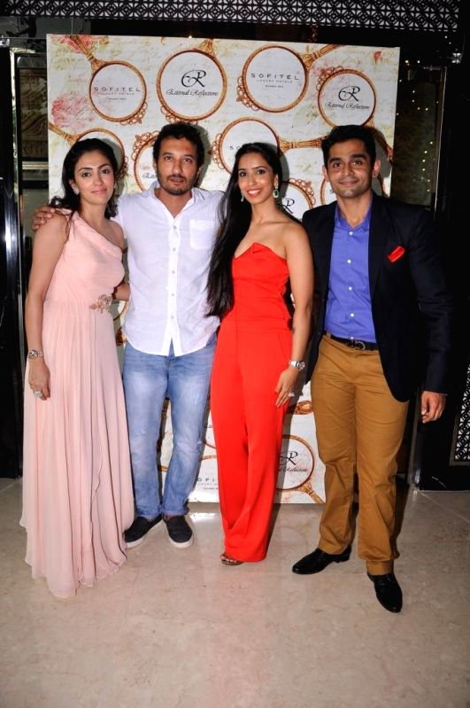 Mahira and Vishal Mankani Pooja Vijan Gurnani with Homi Adajania during the High Tea Jewellery Preview in Mumbai on July 5, 2014.