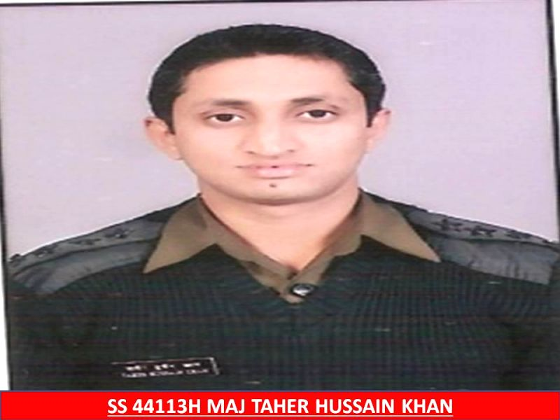 Maj Tahir Hussain Khan, who was killed in a Advanced Light Helicopter (ALH) Dhruv crash that took place in a forest in Bandipore district of Jammu and Kashmir Wednesday (11th Feb 2015) evening. (File