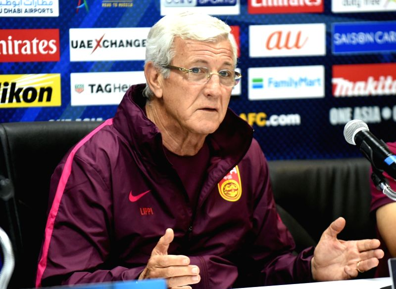 MALACCA, June 12, 2017 - China's head coach Marcello Lippi attends the press conference before the 2018 FIFA World Cup Russia qualification match between China and Syria in Malacca, Malaysia, June ...