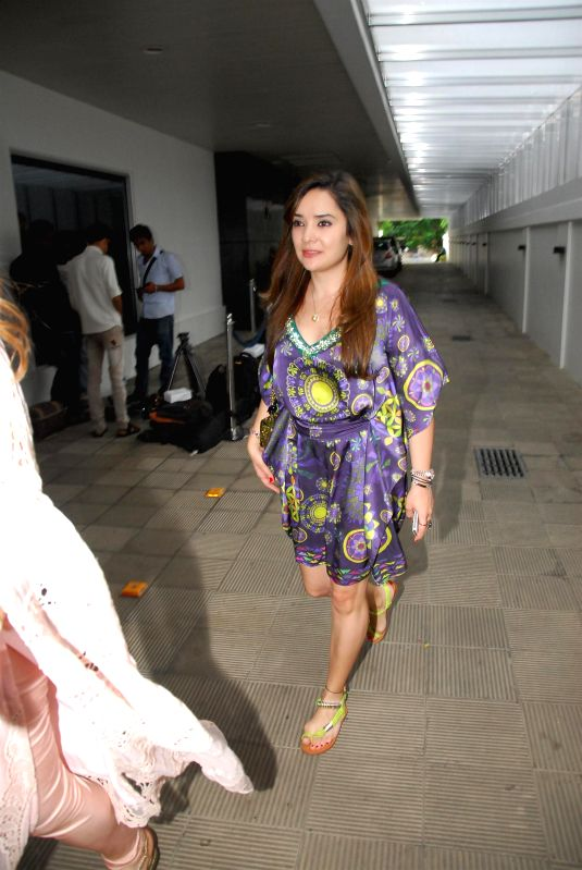 Malaika Parekh wife of Bollywood actor Zayed Khan during the birthday celebration of artist Rouble Nagi in Mumbai on July 7, 2014. - Zayed Khan
