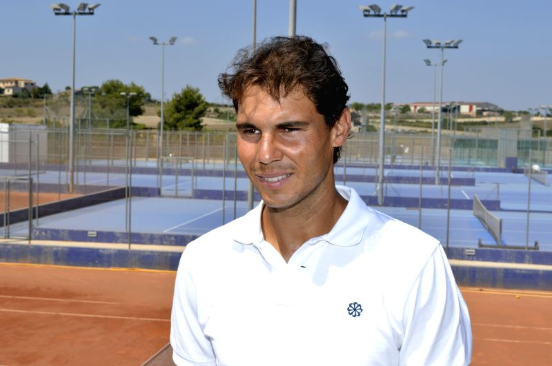 """Spanish tennis player Rafael Nadal, attends the presentation of the facilities that will be the """"Centre Tenis and Panel"""", at Manacor municipality, in ..."""