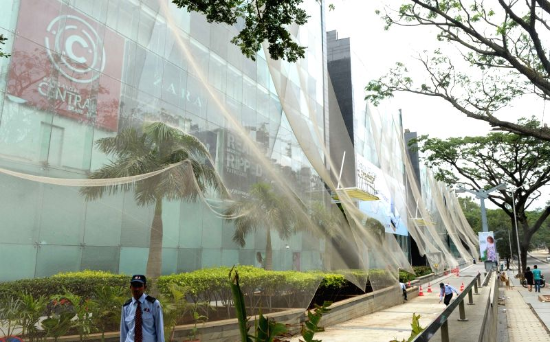 Malls being closed following the Pro-Kannada organisations and Farmers Associations called for a Karnataka bandh condemning the Mahadayi Water dispute tribunal order in Bengaluru on July ...