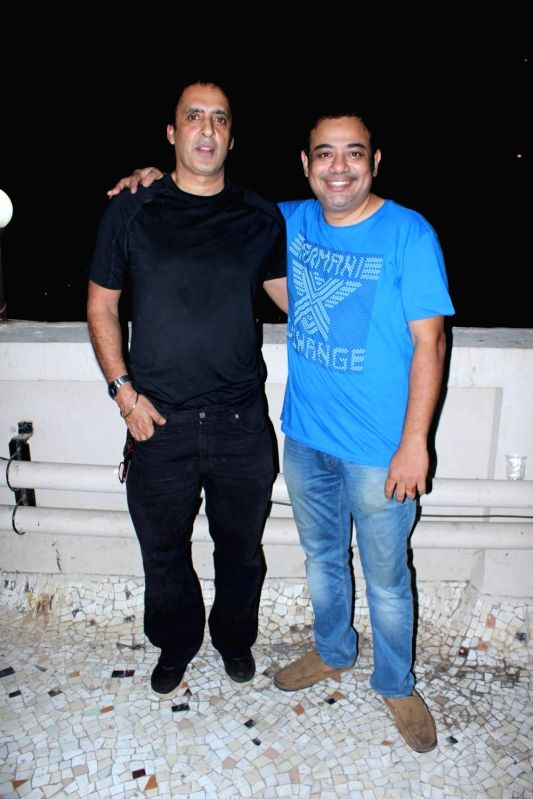 Mamik Singh and Rajesh Roy during the his Birthday Party in Mumbai on April 11, 2017. - Mamik Singh and Rajesh Roy