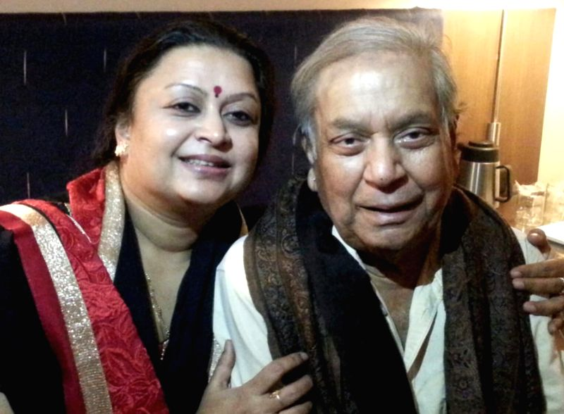 Mamta Maharaj with father Birju Maharaj