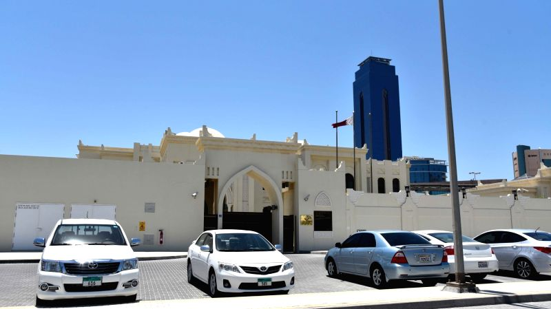 MANAMA, June 5, 2017 - Photo taken on June 5, 2017 shows the Embassy of Qatar in Manama, Bahrain. Bahrain announced Monday it cut ties with Qatar, accusing the country of disturbing its security and ...