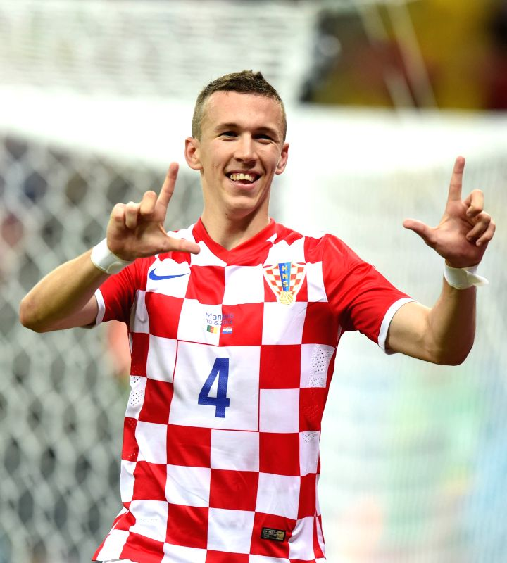 Croatia's Ivan Perisic celebrates a goal during a Group A match between Cameroon and Croatia of 2014 FIFA World Cup at the Arena Amazonia Stadium in Manaus, Brazil, .