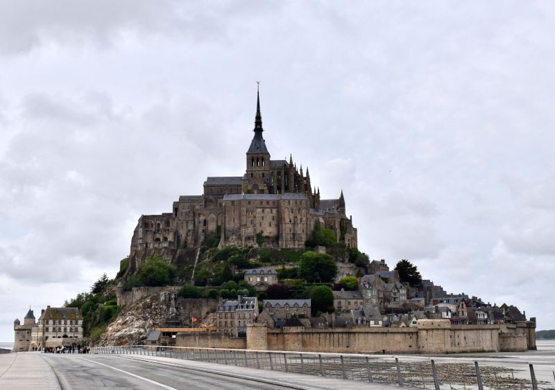 MANCHE, May 19, 2017 - Photo taken on May 18, 2017 shows the Mont-Saint-Michel in Manche department, France. Mont-Saint-Michel and its Bay was listed as a world heritage site by the UNESCO in 1979.