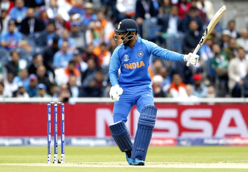 Manchester: India's KL Rahul in action during the 22nd match of 2019 World Cup between India and Pakistan at Old Trafford in Manchester, England on June 16, 2019. (Photo: Surjeet Yadav/IANS)