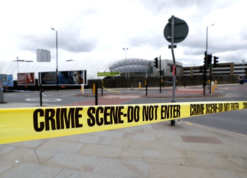 MANCHESTER, May 23, 2017 - Police secure the Manchester Arena in Manchester, Britain, May 23, 2017. A total of 22 people, including children, were killed and 59 others injured in a suicide terror ...