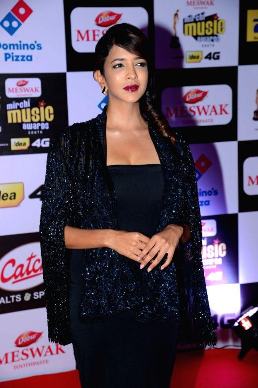 Manchu Lakshmi at Mirchi Music Awards South 2016, on July 27, 2016.