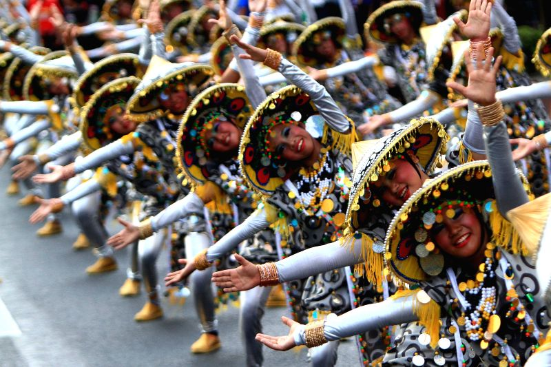 Dancers perform during the Aliwan Fiesta, a cultural annual event, in Manila, the Philippines, April 26, 2014.