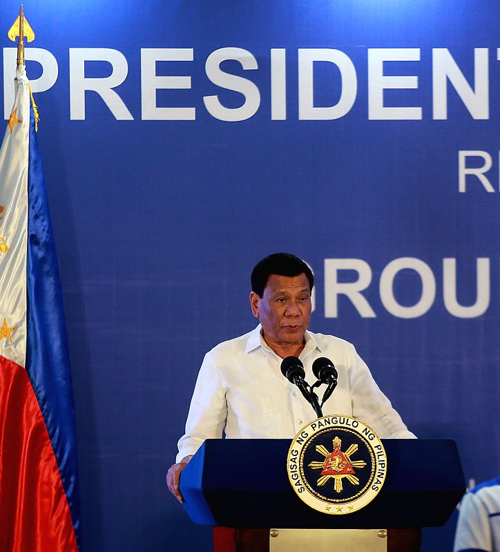 MANILA, July 17, 2018 - Philippine President Rodrigo Duterte speaks during the groundbreaking ceremony of two China-funded bridges in Manila, the Philippines, July 17, 2018. Philippine President ...