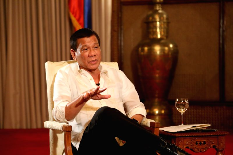 MANILA, May 10, 2017 - Philippine President Rodrigo Duterte receives a joint interview with Chinese media in Manila, capital of Philippines, May 9, 2017. The Philippines is expecting to deepen its ...